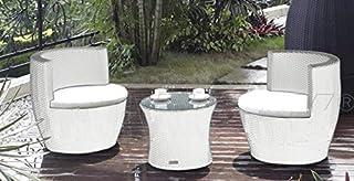 Amazon.es: mesa cristal rattan: Jardín