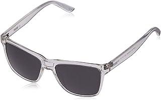Puma Men's PU0168S PU0168S-005 57 Rectangular Sunglasses, White, 57 mm