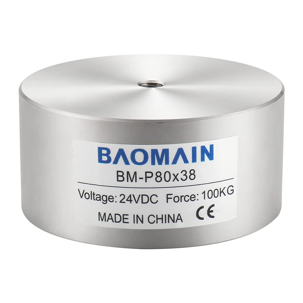 Dallas Mall Baomain Max 74% OFF Electromagnet Solenoid 24VDC 1000N 100kg 220LB Ele Force