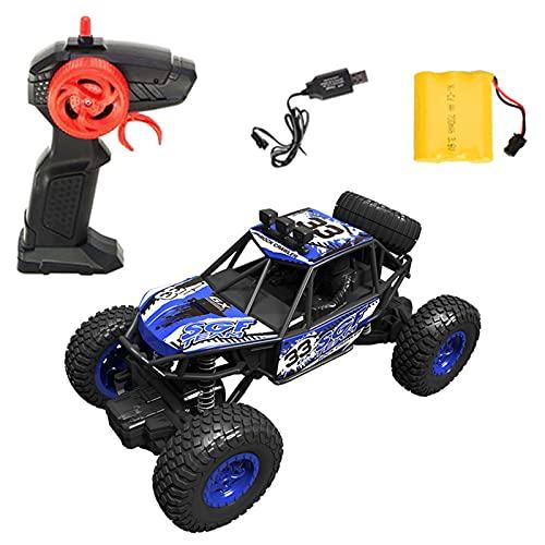 RC Coche Sin Wscobillas Coche De Carreras De Alta Velocidad 20 Km/H Monster Camión Sin Escobillas 1:20 4WD Eléctrico Buggy 2,4 GHz Vehículo Coche De Juguete para Adultos Y Niños,Azul