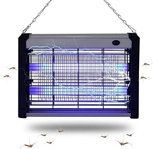 Beslands Frxinus - Matamoscas eléctrico con luz Ultravioleta (2 W, LED, para Habitaciones de hasta 30 m2, rápido y sin Productos químicos), Plata