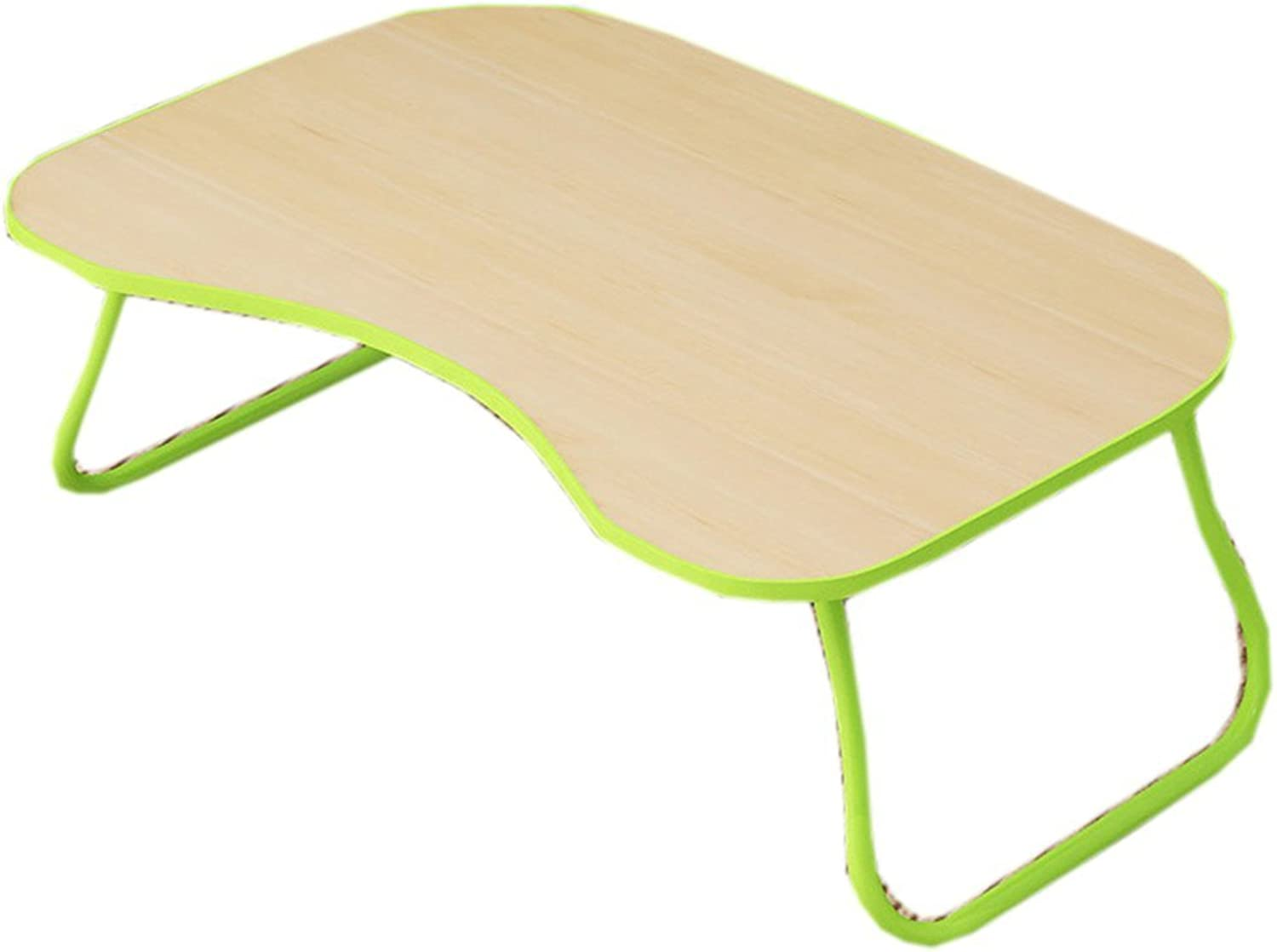 TJTG Collapsible Laptop Desk Table Portable Student Dormitory Small Table Shelf (color   Green)