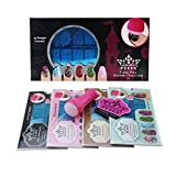 PUEEN Nail Art Stamping THEME PARK GIFT SET 01 - 4 Theme Park Plates - 125x65mm Unique Nailart Polish Stamping Manicure Image Plate Accessories Kit -BH000859