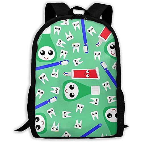 Niedliche Zähne Zahnpasta grün Laptop Bookbag, Business Bag Travel, wasserdichte Anti-Diebstahl-College-Schultasche