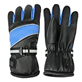 LSSAC Heated Gloves Rechargeable, 7.4V 4000mAh Battery Operated Electric Thermal Glove for Men and Women, Touchscreen Washable Heating Hand Warmer for Motorcycle Riding Cycling Fishing Ski Hiking