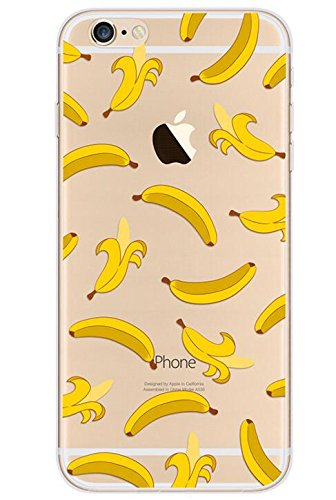 iPhone SE (2020) Case/iPhone 8 Case/iPhone 7 Case(4.7inch),Blingy's Banana Style Transparent Clear Soft TPU Case Compatible for iPhone SE (2020)/iPhone 8/iPhone 7 (Banana)