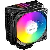 upHere CPU Kühler mit 5 Heatpipes, 120mm PWM ARGB LED Lüfter,Prozessorlüfter für Intel und AMD CPUs, N1055ARGB