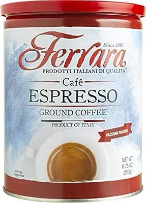 Ferrara Cafe Espresso Ground Coffee, 8.75 Ounce Canisters by Ferrara