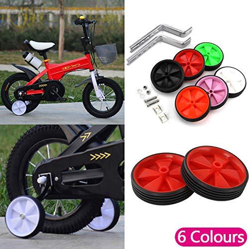 JUEYAN 2X Fahrrad Stützräder Hilfsräder für kinderfahrrad Trainingsräder Kinder Rad Zubehör für Alle Fahrräder von 12-20 Zoll (Grün) - 4