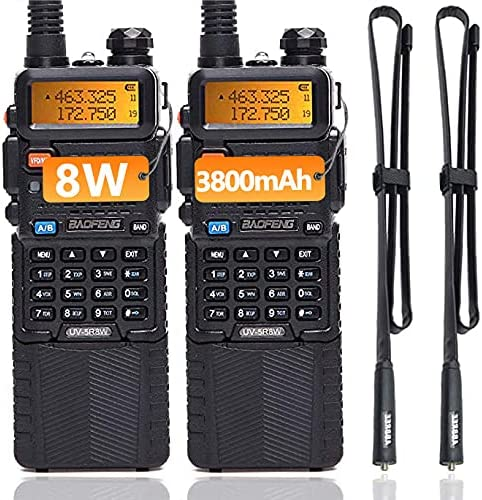 2 Pack BaoFeng UV-5R High Two-Way Radio Portable Max 57% OFF excellence Tri-Power Power