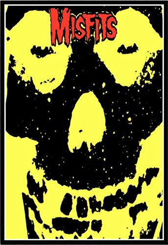 yuyu-beautiful Misfits Poster Horror Rockmusik Retro Poster Und Drucke Leinwand Malerei Wandkunst Bild Für Wohnzimmer Home Decor 50X70Cm Ungerahmt