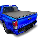 Tyger Auto T3 Soft Tri-Fold Truck Bed Tonneau Cover for 2016-2018 Toyota Tacoma Fleetside 6' Bed TG-BC3T1531, Black