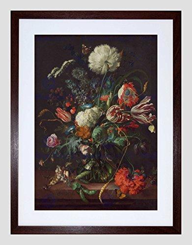Wee Blauwe Coo Jan Davidsz De Heem Hollandse Vaas Bloemen Omlijst Muur Art Print