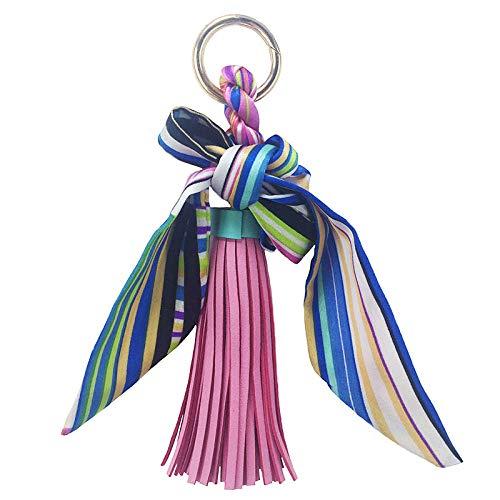 Tasche Deko Anhänger Schlüsselanhänger Band Schleife Pu Leder Fransen Schlüsselbund Anhänger Großhandel Mädchen Tasche Zubehör Farbe 2