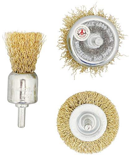 Kraftmann 50903 | Jeu de brosses à fil d'acier | Ø 25 - 50 mm | 3 pièces