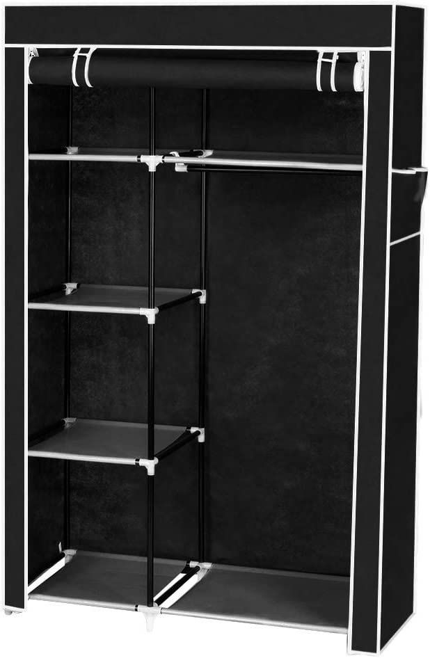 Portable Clothes Closet Non-Woven Standing Wardrobe Fabric New Shipping Sale special price Free Clot