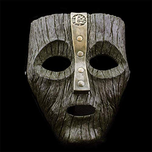 GFDGFDG Cameron Diaz Loki Halloween-Harzmasken Jim Carrey Venezianische Maske Der Gott des Unfugs Maskerade Replik Cosplay Partyzubehör, Requisiten, Geschenk,Schwarz