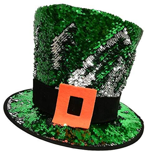 Review Traditional Craft Ltd. Green 2 Way Sequin Kids St. Patrick's Day Leprechaun Hat