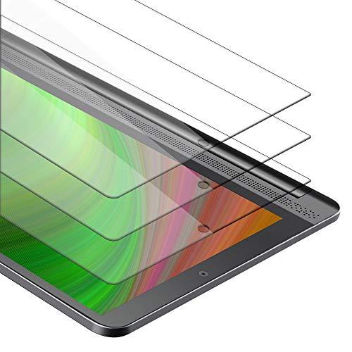 Cadorabo Película de Armadura 3X Compatible con Lenovo Yoga Tab 3 Plus (10.1') - película Protectora en Transparencia ELEVADA Paquete de Vidrio Templado en dureza 9H con compatibilidad táctil 3D