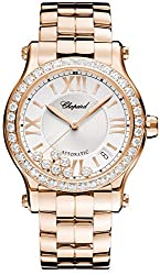 Happy Sport Rose 18 ct Gold 36mm Automatic Watch 274808-5004