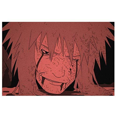 Anime NARUTO Uzumaki Naruto - Felpudo antideslizante para puerta de baño, cocina, barriera, zapatero, terraza, jardín, invernadero (40 x 60 cm)
