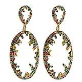 Pendientes Para Niñabohemian Jewelry Rhinestone Dangle Earrings Para Mujeres Fashion Jewelry Collection Earrings Accessories-B