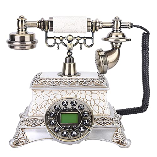 PBOHUZ Teléfono Retro - Estilo Europeo Clásico Vintage Llamadas telefónicas Teléfono de Escritorio Línea Fija