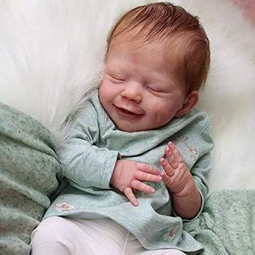 CJF 47cm Muñecas renacidas Muñeca para Dormir MuñEca ReciéN Nacida Hecha A Mano Silicona Cuerpo Completo Realista Hechos a Mano recién Nacido bebés bebés niños