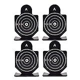 KHHGTYFYTFTY Airsoft Metal Objetivo Titular de Tiro Disparo humanoide Tiro al Blanco Objetivos para Todas Las Armas de Fuego