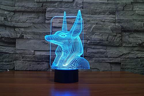 Pharaoh escort 1 lámpara de mesa táctil personalizada colorida de luz nocturna 3D-Mando a distancia táctil de tres colores