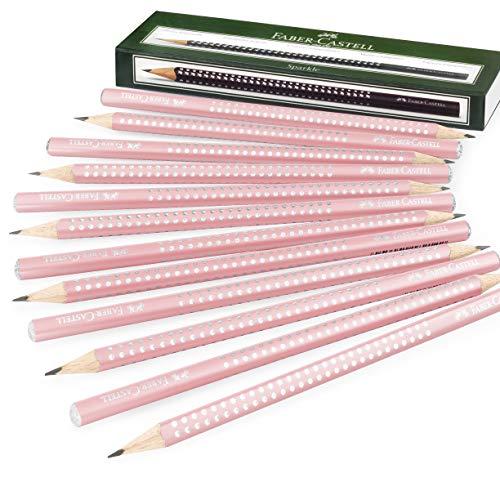 Faber-Castell Sparkle Pearl Graphit-Bleistifte, Rosen-Schaft, 12 Stück