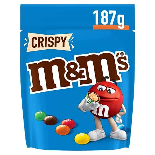 M&M's CRISPY - Billes au riz soufflé enrobé de chocolat au lait - Pochon de 187g