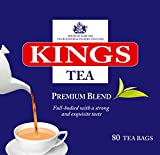 Kings Tea, Premium English Tea, 400 sachets de thé, 5 boîtes de 80, 2 tasses de thé