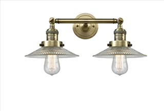 Innovations 208-BB-G1-LED 2 Light Vintage Dimmable LED Bathroom Fixture Brushed Brass