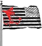 N/A USA Wächter Fahne Banner Home Flaggen Bogen Jagd Outdoor USA Flagge Stolz Dicker Vertikaler Yard für alle Jahreszeiten Terrasse Wand Deko 121,2 m