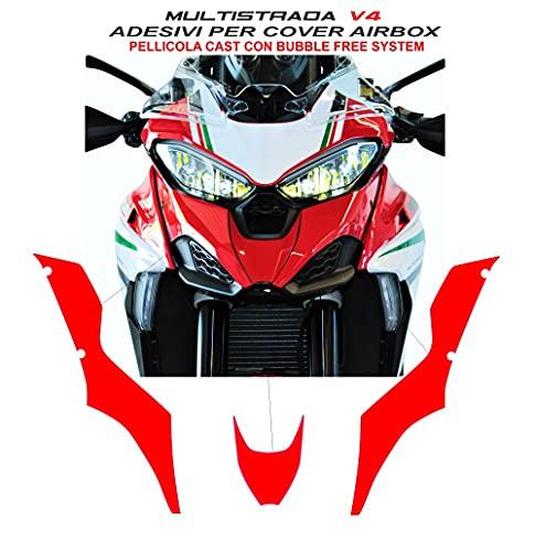 Vulturbike Aufkleber für Airbox - Ducati Multistrada V4 / V4S (Rot Ducati)