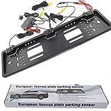 B-black PORTA TARGA EUROPEO AUTO/CAMPER CON 2 SENSORI DI PARCHEGGIO