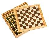 goki 56953 - Spiele-Set Schach, Dame und Mühle
