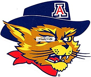 3 Inch Wilbur Wildcat University of Arizona UA Wildcats AZ Removable Wall Decal Sticker Art NCAA Home Room Decor 3 by 3 Inches