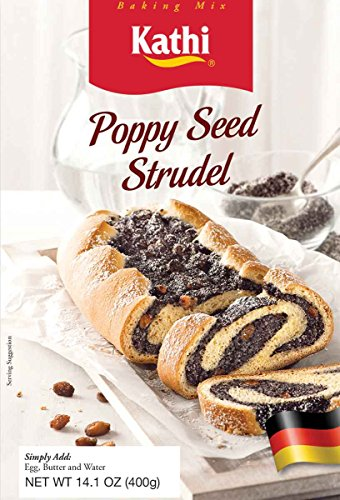 Kathi Poppy Seed Strudel Baking Mix, 14.1 Ounce