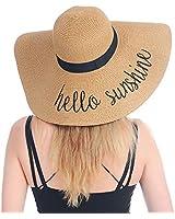 Womens Beach Straw Hat UPF 50 Sun Blocking Hat Foldable Summer Hat for Travel Floppy Sun Hat Women