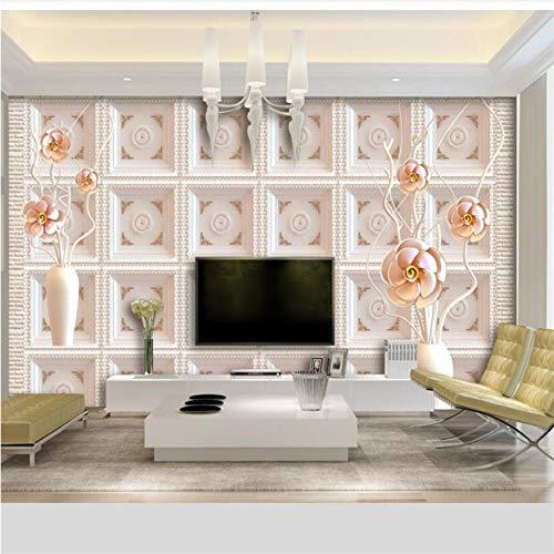 Hwhz Tapete Für Wände 3 D Benutzerdefinierte Tapete Einfache Wandbilder Mit 3D-Tv-Hintergrund Im Rosentopf-280X200Cm