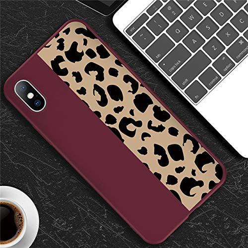 TDG Fundas Estuche De Teléfono Colorido con Estampado De Leopardo para iPhone 11 Pro 6 6S 7 8 Plus X XR XS MAX 5 5S Se Soft TPU para iPhone X Fundas De Teléfono para iPhone XS MAX T3 Ro