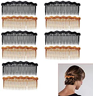 Luckycivia 10Pcs Plastic French Twist Comb, Side Hair Combs with 24 Teeth Hair Comb for Fine Hair,Hair Combs Accessories [並行輸入品]