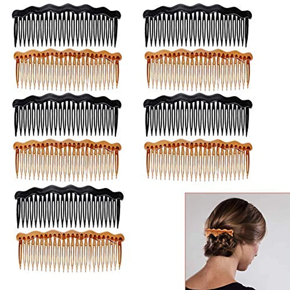 有望バブル評価するLuckycivia 10Pcs Plastic French Twist Comb, Side Hair Combs with 24 Teeth Hair Comb for Fine Hair,Hair Combs Accessories [並行輸入品]