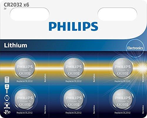 Philips minicells Knopfzelle–Batterien (Lithium, Button/Coin, CR2032, CD (Cadmium), Hg (Quecksilber), PB (Blei))