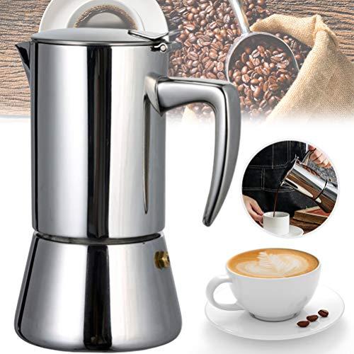 Ububiko Cafetera Espresso Cafetera Espresso, Fabricada en Acero Inoxidable Cafetera Espresso clásica Cafetera Moka Cafetera Italiana Resistente y Duradera
