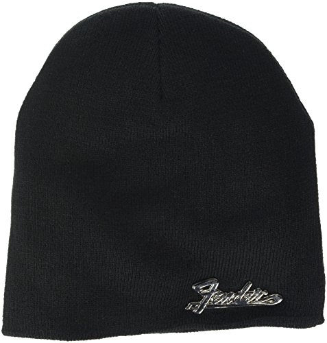 Meroncourt Fender Metal Logo Cuffless Beanie, One Size, (Kc230303Fen) Casquette de Baseball, Noir (Black), Taille Unique Mixte