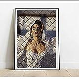 sechars Cindy Crawford Weißes Kleid Modell Poster und