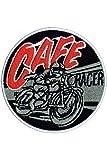 Lucky Patches, Aufnäher, Applikation, Aufbügler, Iron on Patch - Cafe Racer, Custom, Motorrad, Biker, Ø 7,5 cm